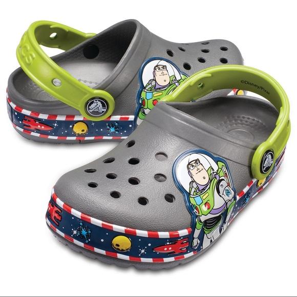 Buzz Lightyear Lightup Toddler Crocs